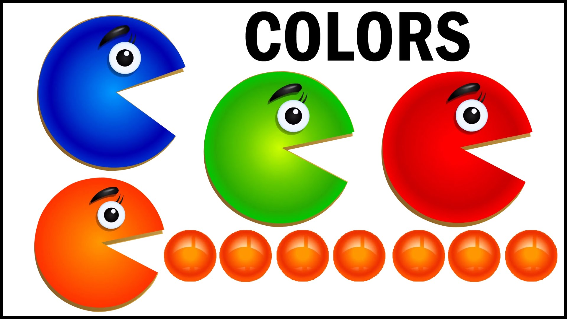 Learn Colors with Packman Cartoon, Teach Colours, Baby Children Kids ...