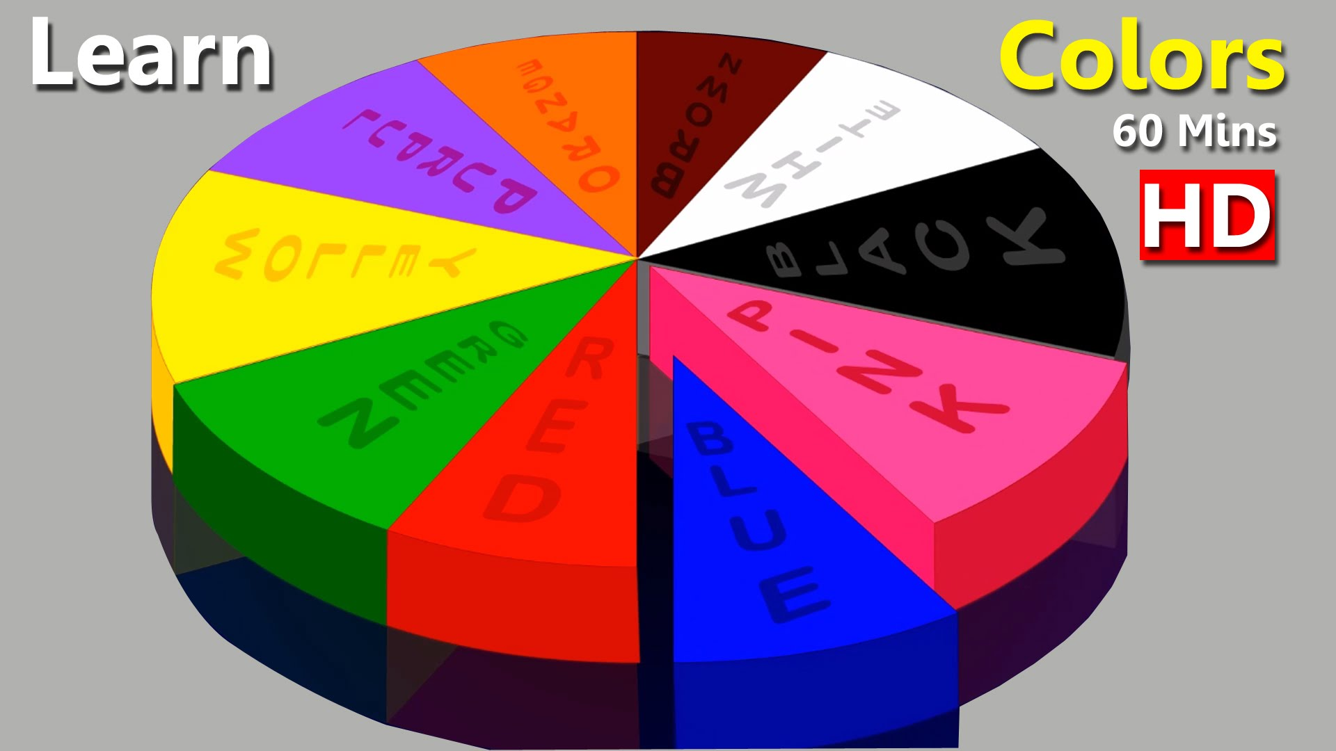 Learn Colors with Color Chart, Teach Colours, Baby Children Kids ...