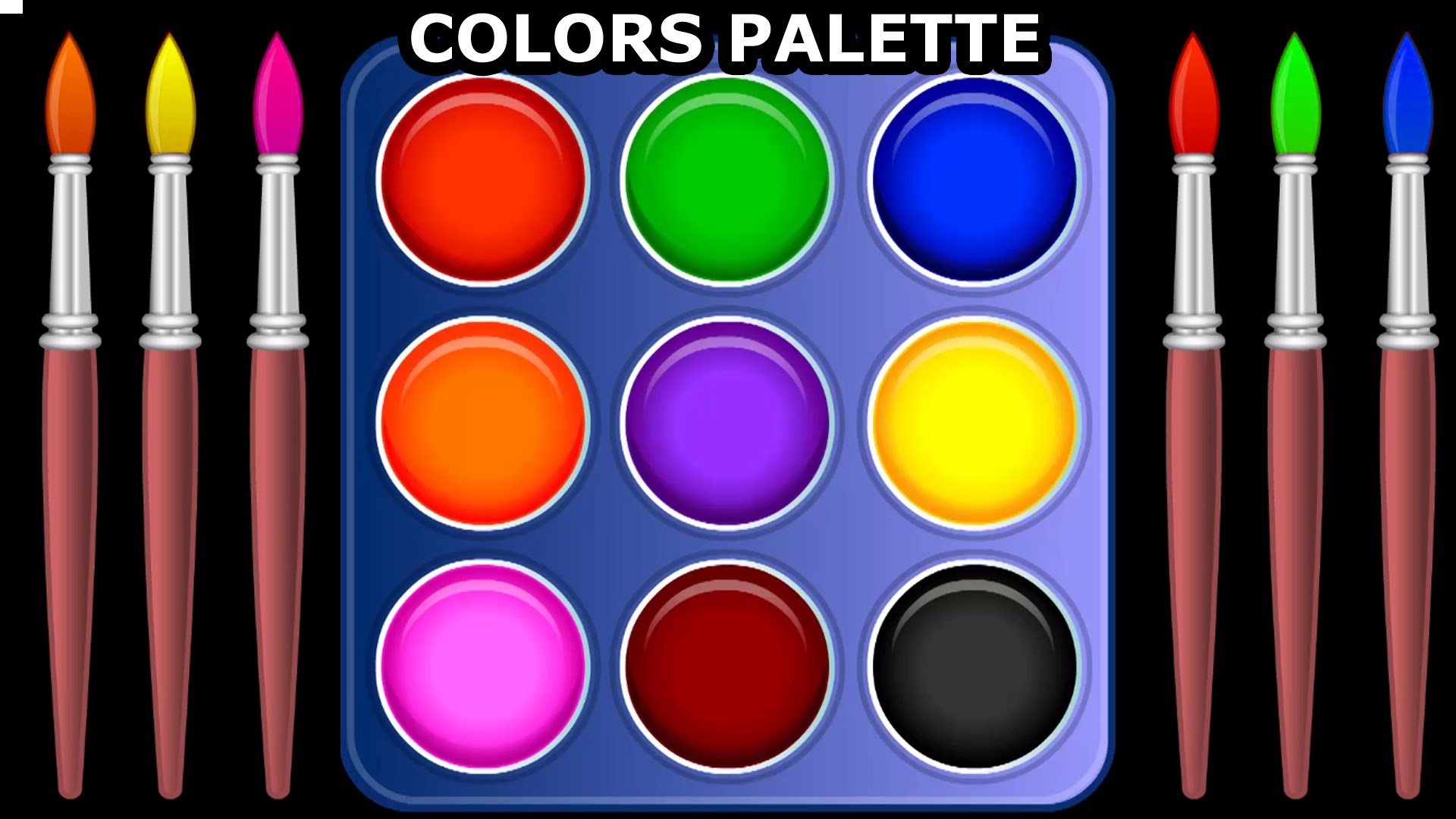 Learn Colors with Color Palette For Children, Teach Colours, Baby ...