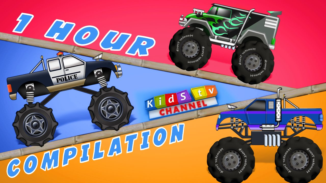 Most Popular Monster Truck Videos For Kids Vehicles Collection For Children Place 4 Kids
