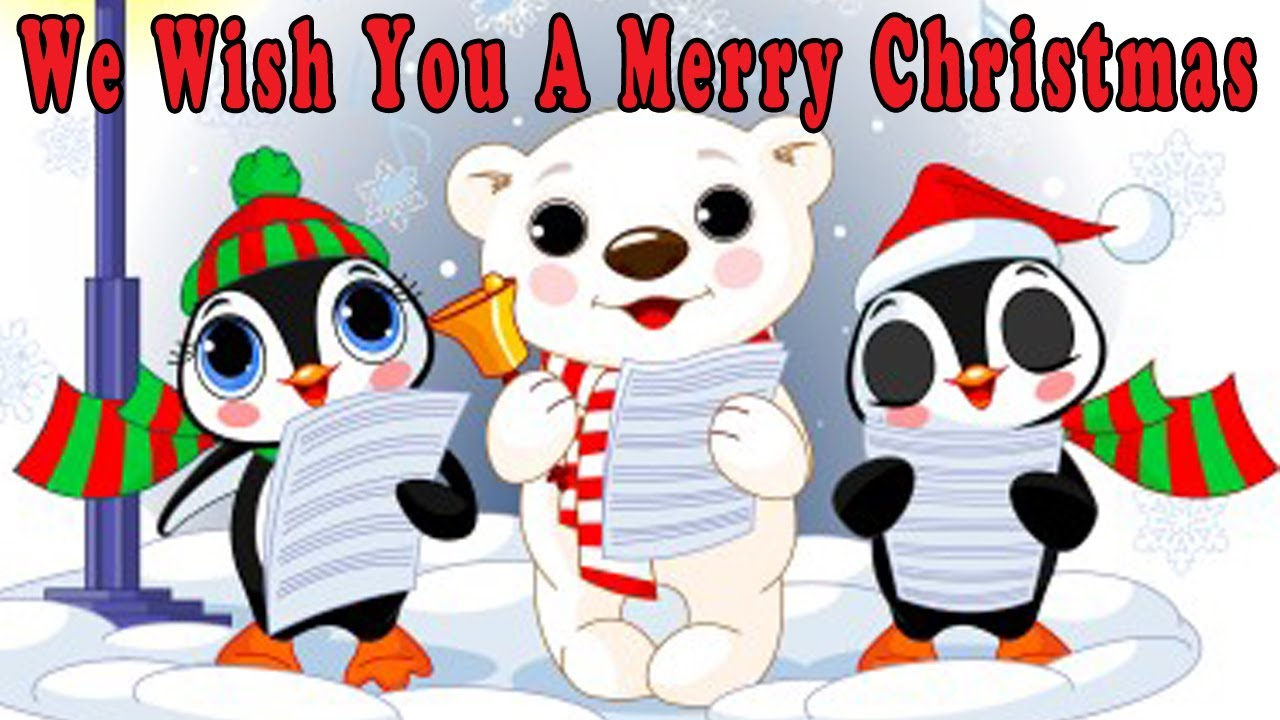 Christmas Songs for Children with lyrics - We Wish You a Merry ...
