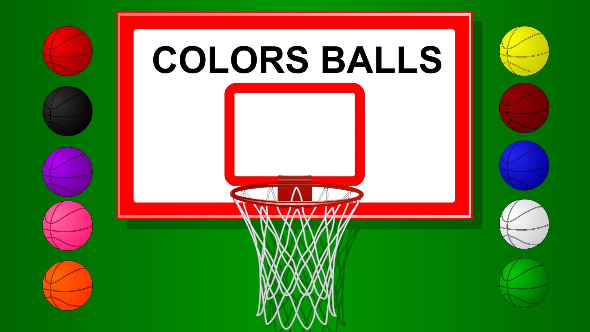 Colors for Children to Learn with Basket Ball Game - Teach Colours ...