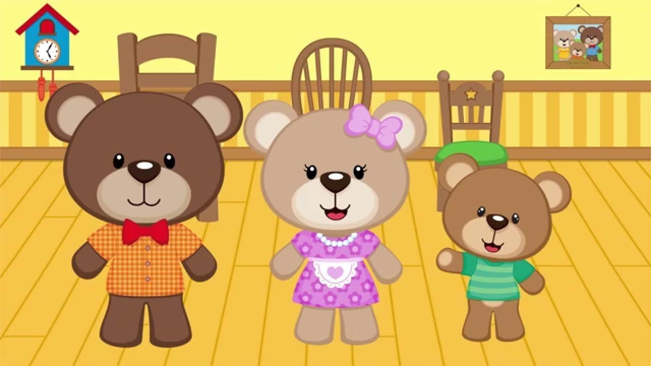 Uncategorized Story Of Three Bears goldilocks and the three bears kids learning videos place 4 kids