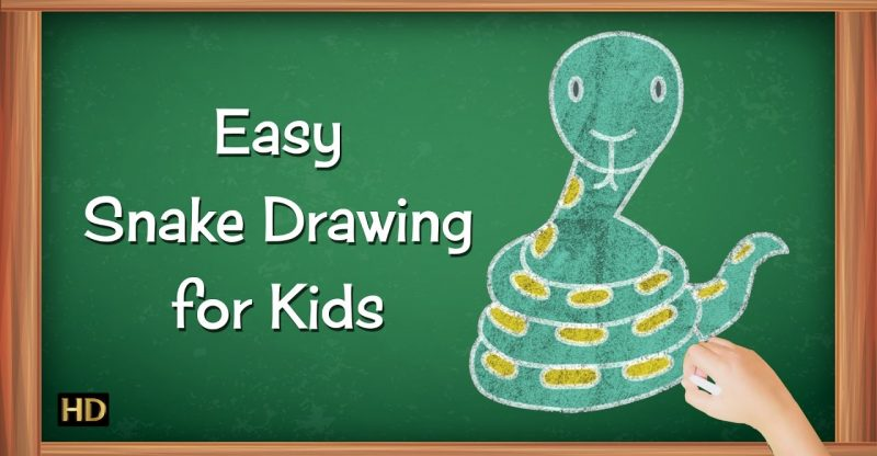 How To Draw Snake Step By Step For Kids Learning Videos For