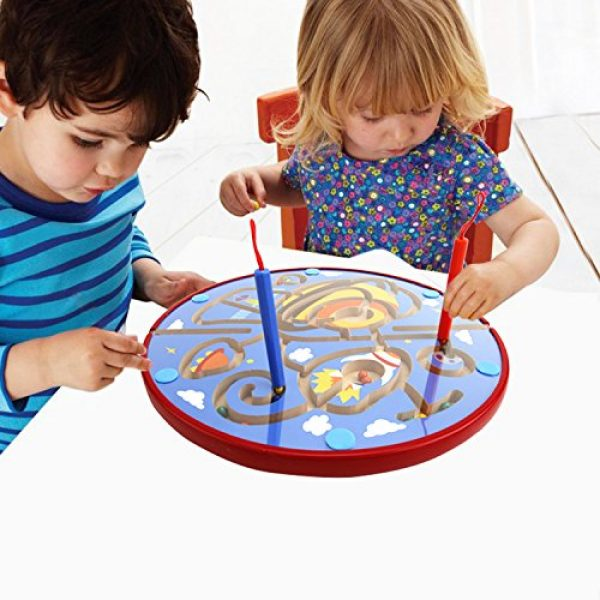 Lewo Wooden Magnetic Maze Educational Toys Dry Erase Easel ...