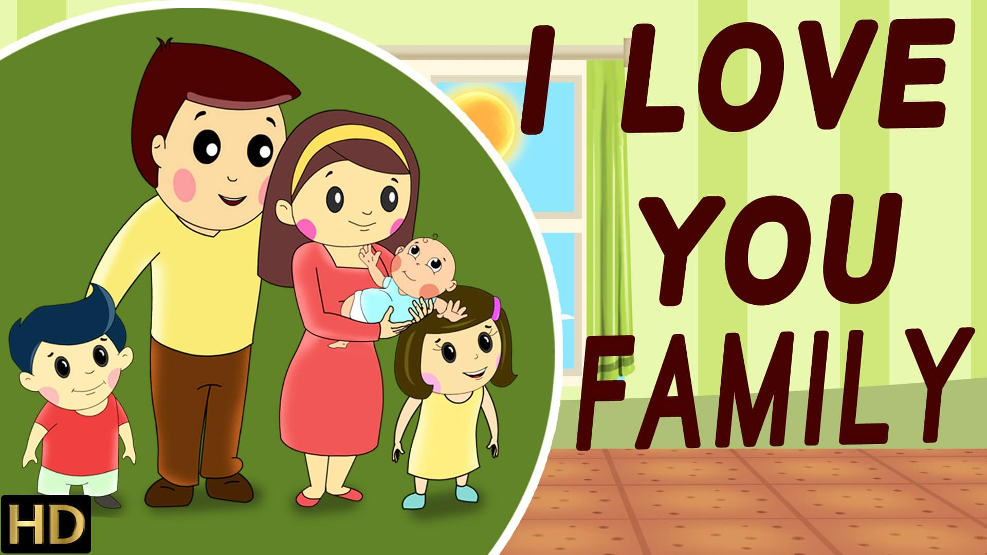 I Love You Family Hd Nursery Rhymes Por Kids Songs Shemaroo Place 4