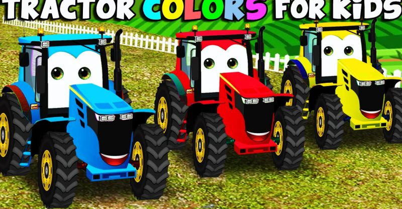 Learn Colors With Tractor For Kids Color Garage Animation Videos