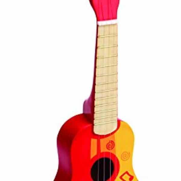 Hape Kids Wooden Toy Ukulele In Red