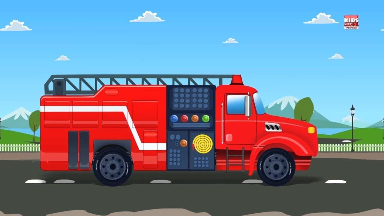Truk Kebakaran Garasi Mobil Video Pendidikan Kendaraan Untuk Anak Kids Learning Video Fire Truck Place 4 Kids